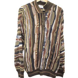 O186 Vintage Giorgio Firenze Wool Knit 3D Sweater